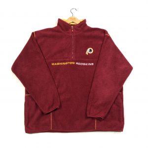 vintage clothing usa nfl washington redskins quarter-zip fleece