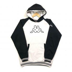 vintage kappa embroidered big logo white hoodie