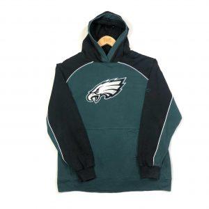 vintage reebok usa philadelphia eagles nfl green hoodie