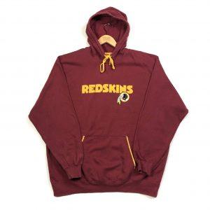 vintage usa nfl redskins team hoodie burgundy