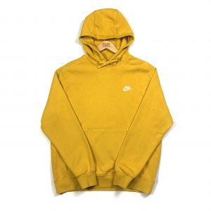 vintage nike essential swoosh logo yellow hoodie