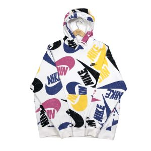 vintage clothing nike multicolour spell out logo printed hoodie
