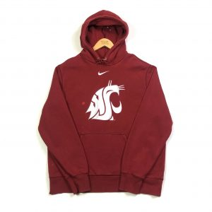 vintage nike usa washington red american hoodie with centre swoosh logo.