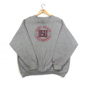 vintage usa ohio state buckeyes embroidered grey american sweatshirt