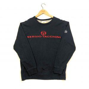 vintage sergio tacchini embroidered log navy sweatshirt