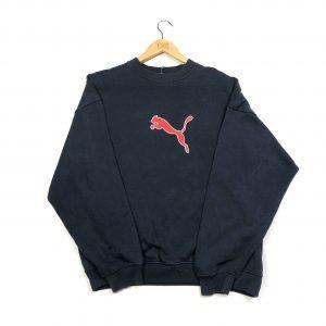 vintage clothing puma centre logo navy sweatshirt