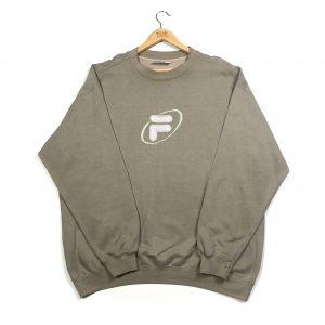 vintage clothing fila embroidered logo beige sweatshirt