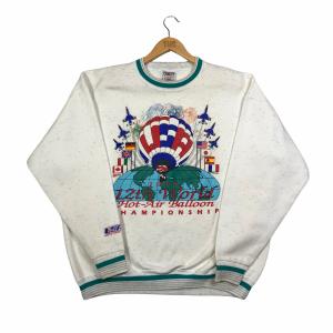 1995 vintage usa printed graphic white sweatshirt