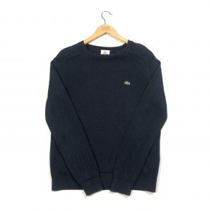 vintage clothing lacoste navy ribbed knit jumper