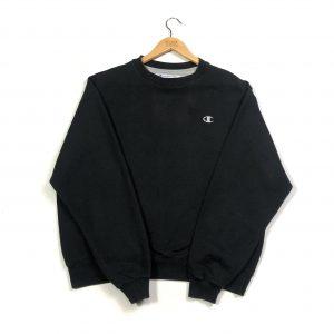 vintage clothing champion embroidered_c logo black sweatshirt