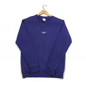 vinatage reebok centre logo purple sweatshirt