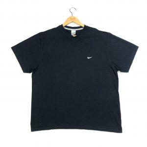vintage nike swoosh logo navy short sleeve t-shirt