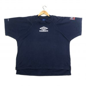 vintage umbro embroidered navy short sleeve sweatshirt t-shirt