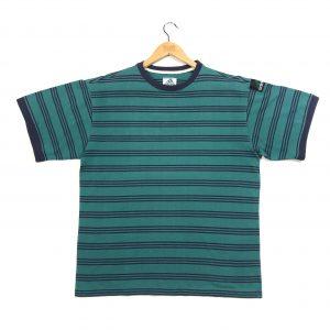 vintage adidas equipment striped teal short sleeve t-shirt