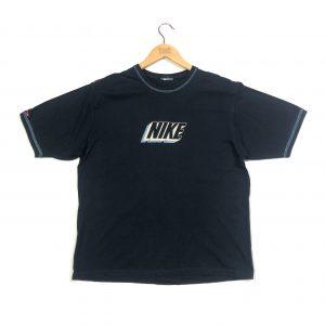 vintage clothing nike printed 3d logo navy t-shirt