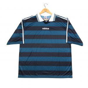 vintage clothing adidas striped black football polo shirt