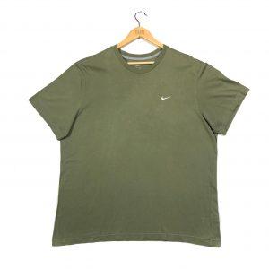 vintage clothing nike swoosh logo khaki short sleeve t-shirt