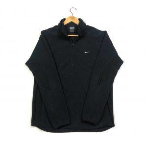 vintage clothing nike swoosh black quarter zip fleece