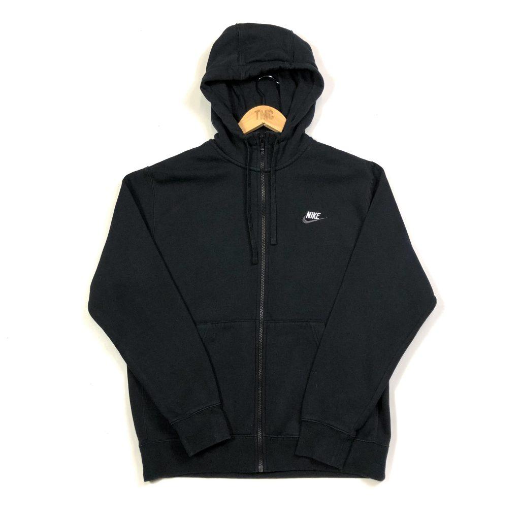vintage clothing nike black zip up hoodie