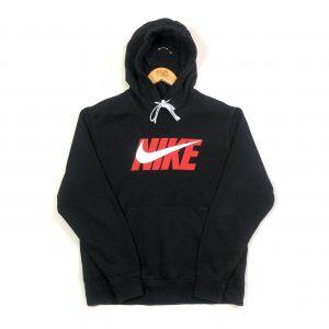 vintage clothing nike spell out logo black hoodie