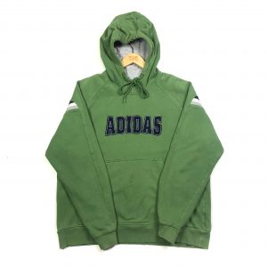 vintage clothing adidas embroidered spell out green hoodie