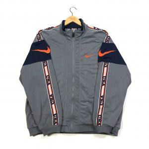 vintage nike 90s usa zip up grey jacket