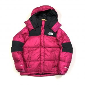 vintage women's the north face pink hooded puffer jacket
