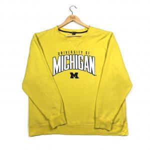 vintage champion usa university of michigan yellow sweatshirt