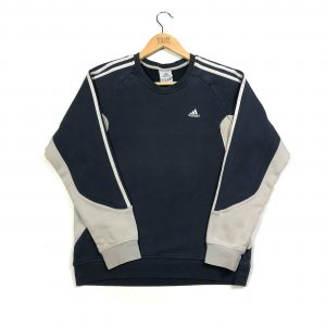 vintage clothing adidas 3 stripes navy sweatshirt