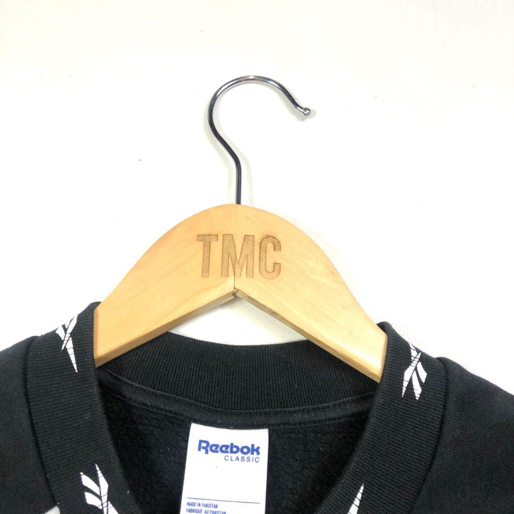 vintage clothing reebok branded black sweatshirt