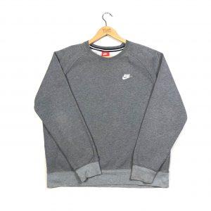 vintage clothing nike grey essential logo sweatshirt