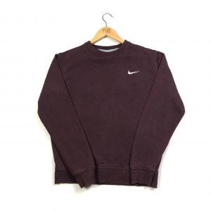 vintage nike burgundy swoosh logo sweatshirt
