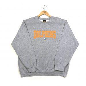 vintage nfl miami dolphins usa pro sport grey sweatshirt