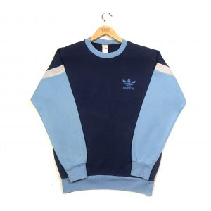 vintage adidas originals trefoil logo blue sweatshirt