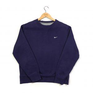 vintage nike swoosh logo purple crew sweatshirt