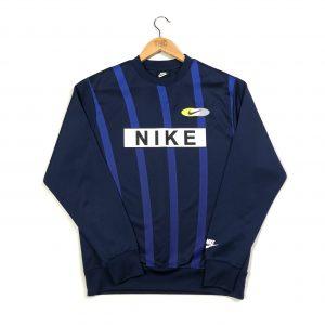 vintage nike striped navy sports training sweatshirt