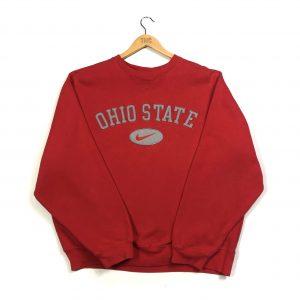 vintage nike usa ohio state embroidered red american sweatshirt