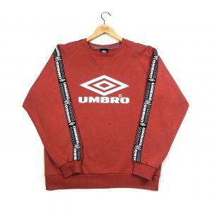 vintage umbro red tape logo sleeves sweatshirt