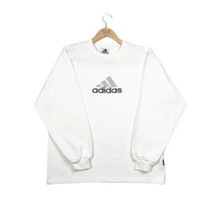 vintage adidas spell out logo white sweatshirt