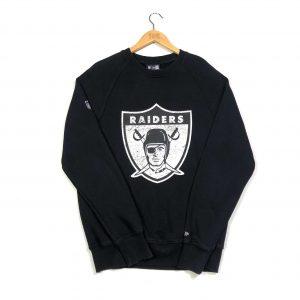 vintage usa nfl team oakland raiders printed sweatshirt
