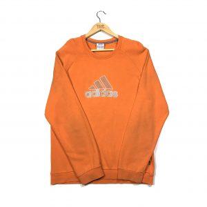 vintage clothing adidas embroidered logo orange sweatshirt