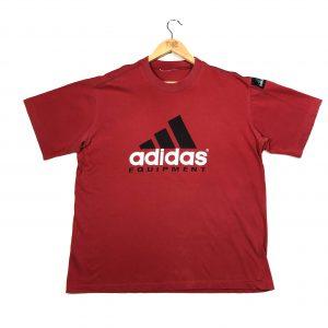 vintage clothing adidas equipment printed red t-shirt