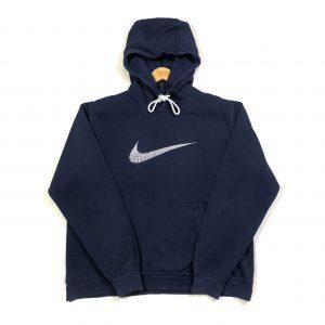 vintage clothing nike embroidered swoosh logo navy hoodie
