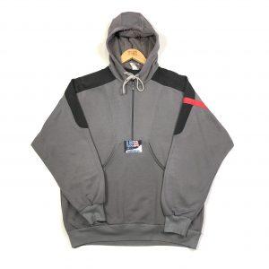 vintage adidas 90s usa grey quarter zip hoodie