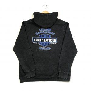 vintage harley-davidson hoodie printed back