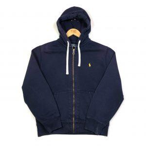vintage clothing ralph lauren zip up navy hoodie