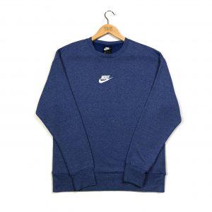 vintage clothing nike embroidered centre logo marl blue sweatshirt