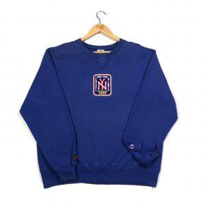 vintage champion embroidered new york giants nfl usa sweatshirt
