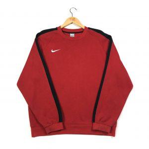 vintage nike swoosh tick red sweatshirt