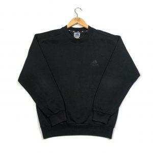 vintage 90s adidas black embroidered essential logo sweatshirt
